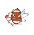 cupid american football character cartoon vector image vector image