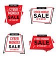 cyber monday sale banner label poster badge vector image vector image