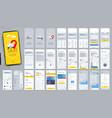 design mobile application ui ux set of vector image