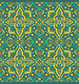 ethnic seamless pattern background with floral vector image vector image
