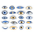 evil eye graphic eyes elements traditional vector image