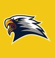 furious eagle head mascot logo mascot design vector image vector image