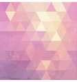 Geometric background with grunge texture vector image vector image