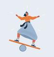 girl doing balancing act on vector image vector image