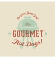 Gourmet Grill Hot Dogs Vintage Card Poster vector image vector image