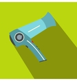 Hairdryer flat icon with shadow vector image vector image