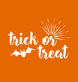 halloween greeting card calligraphy vector image vector image