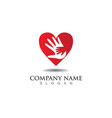 hand help logo and symbols template icons app vector image