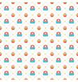happy birthday seamless pattern design vector image vector image