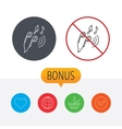 Headphones icon Musical notes signs vector image vector image