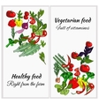 Healthy food drawn vegetables on a white vector image