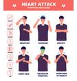 heart attack symptoms disease symptoms health vector image vector image