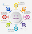 infographic template with award icons vector image vector image