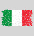 italy grunge flag texture vector image