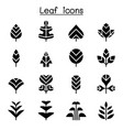 leaf tree icon set vector image vector image