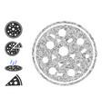 line entire pizza icon collage vector image vector image