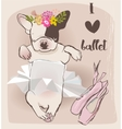 little cute bulldog vector image vector image
