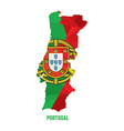 map portugal vector image vector image