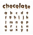 Melted chocolate alphabet vector image