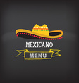 Menu mexican design vector image vector image
