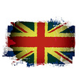 Old british flag vector image vector image