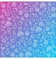 pattern icons line outline food and products in vector image