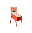 pinball machine isolated on white background vector image vector image