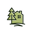 pine house vector image