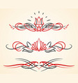 pinstriping flourish ornaments set vector image