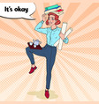 pop art multitasking business woman at work vector image vector image