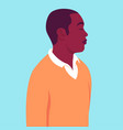 portrait an african man with closed eyes in vector image vector image