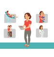 pregnant happy woman flat design character vector image vector image