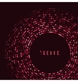 Red technology round for your logo template Can vector image vector image