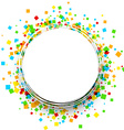 Round background with colour squares vector image vector image