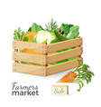 sale at farmers market promo poster with vector image vector image