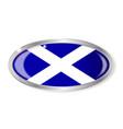 scotland flag oval button vector image vector image