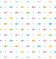 seamless colorful fish and dots patten vector image