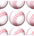 seamless pattern tile cartoon with baseball vector image