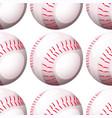 seamless pattern tile cartoon with baseball vector image