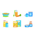 set products for bafood vector image