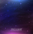 space galaxy background vector image vector image