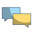 speech bubble chat message talk dialog vector image vector image