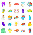 suitability icons set cartoon style vector image vector image