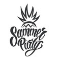 summer party typographic vintage lettering vector image