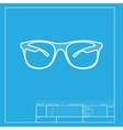 Sunglasses sign White section of vector image vector image