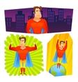 Superhero posters banners set vector image vector image