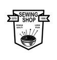 tailor shop emblem template design element vector image