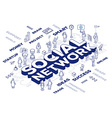 three dimensional word social network wit vector image vector image