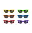Unisex sunglasses vector image