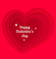 valentines day red hearts paper cut vector image